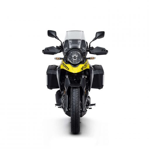 V-Strom 250 sport bike front view with lights and windscreen