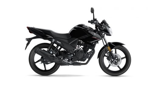 YS 125 road motorbike black