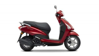 Yamaha D'elight 125 scooter lava red colour