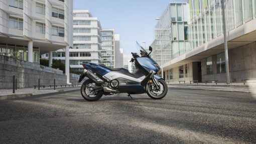 Yamaha T-MAX DX motorcycle parked London