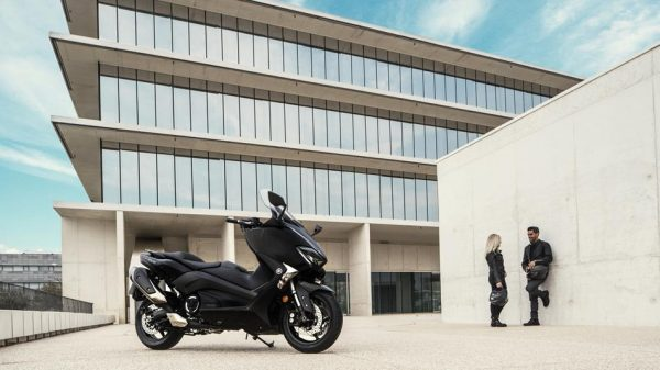 Yamaha TMAX parked in Chelsea