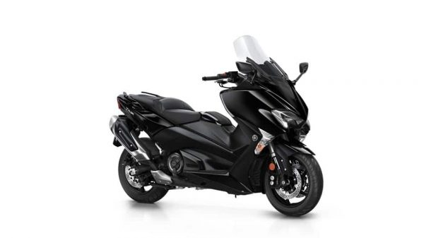 Yamaha TMAX scooter black side view