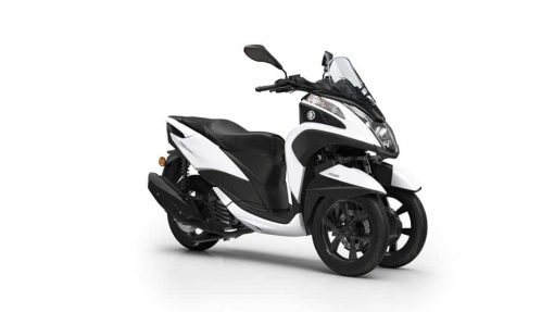 Yamaha Tricity-125 ABS scooter milky white colour