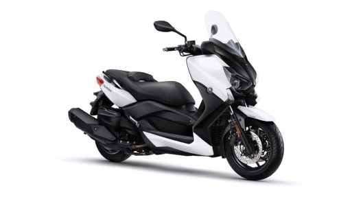 Yamaha X-MAX 400 bike white side view