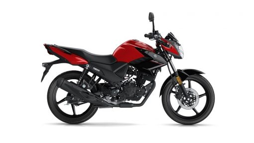 Yamaha YS125 road motorcycle red colour