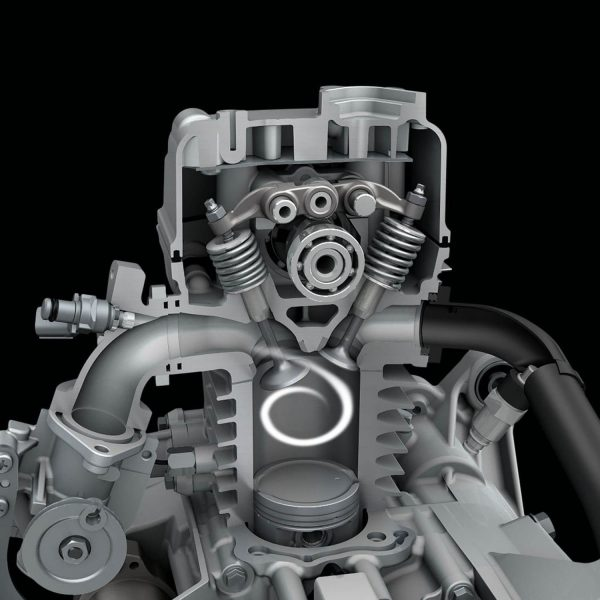 Suzuki Address scooter - close look to engine