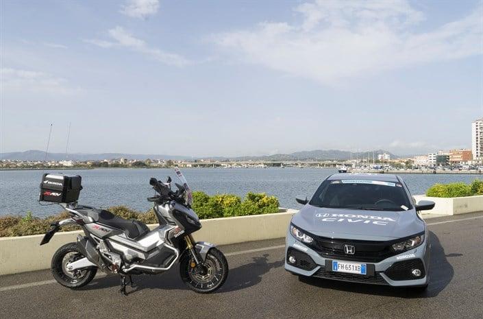 Honda X-ADV scooter - Italia beautiful view