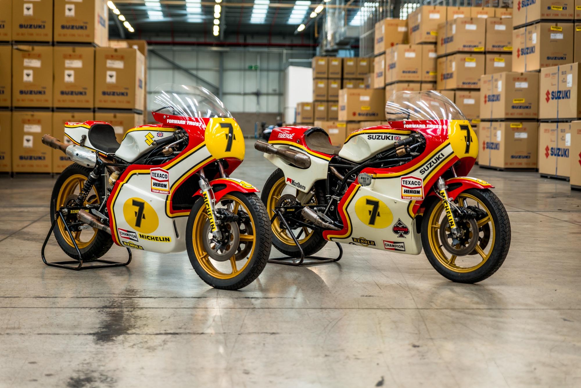 Team Classic Suzuki - two vintage bikes