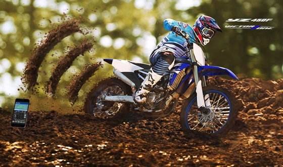 All new 2018 YZ450F with the world's first power tuner smartphone app