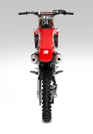18YM Honda CRF250R bike shares complete mass-centralised chassis with the CRF450R