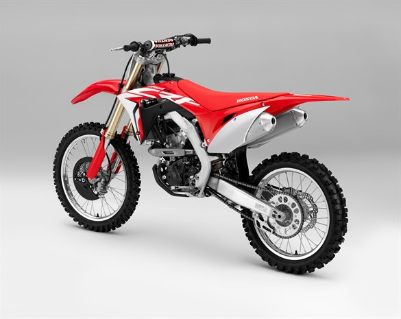 2018 Honda CRF250R motorcycle - side view