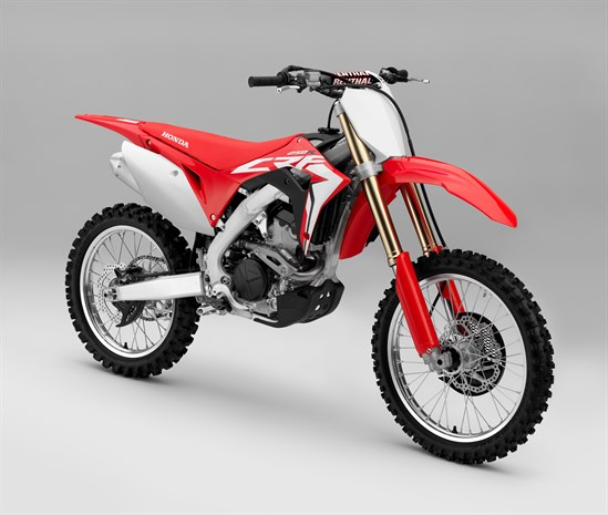 2018 Honda CRF250R motorcycle - view from left