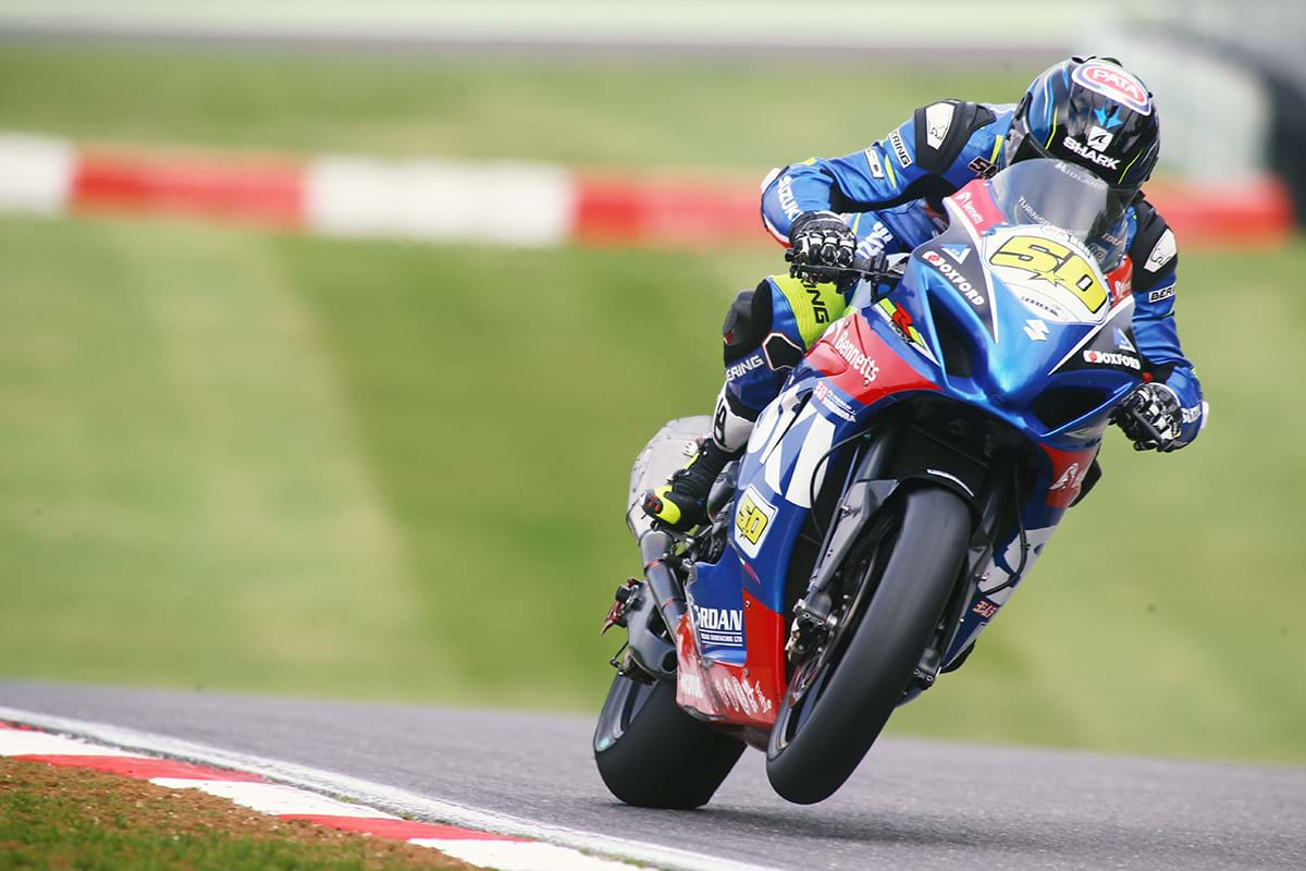 Guintoli on Suzuki GSX-R1000 bike