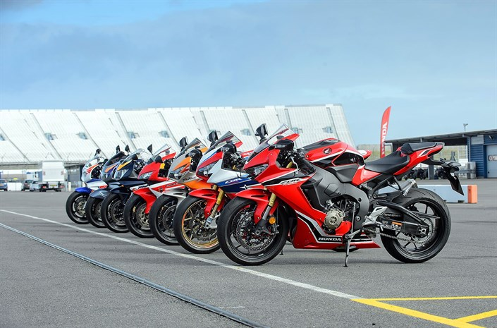 Honda CBR1000RR Fireblade bikes parked