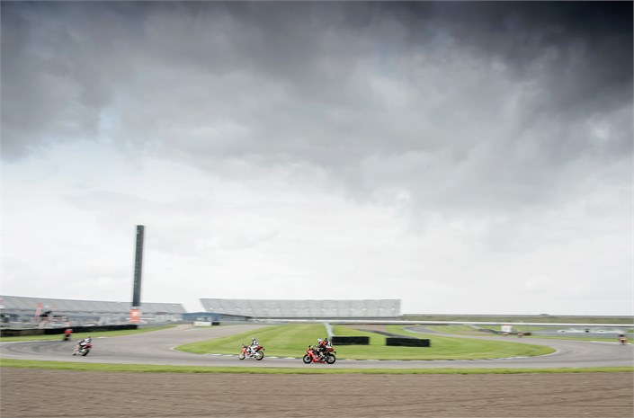 Honda CBR1000RR Fireblade motorbike during race