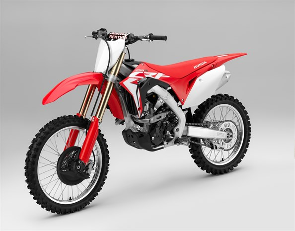 Honda CRF250R motorcycle - view from right