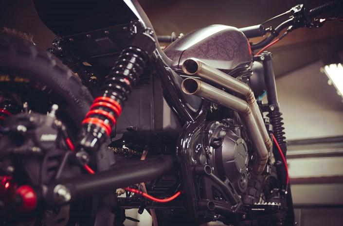 Honda Rebel motorbike - exhaust pipe
