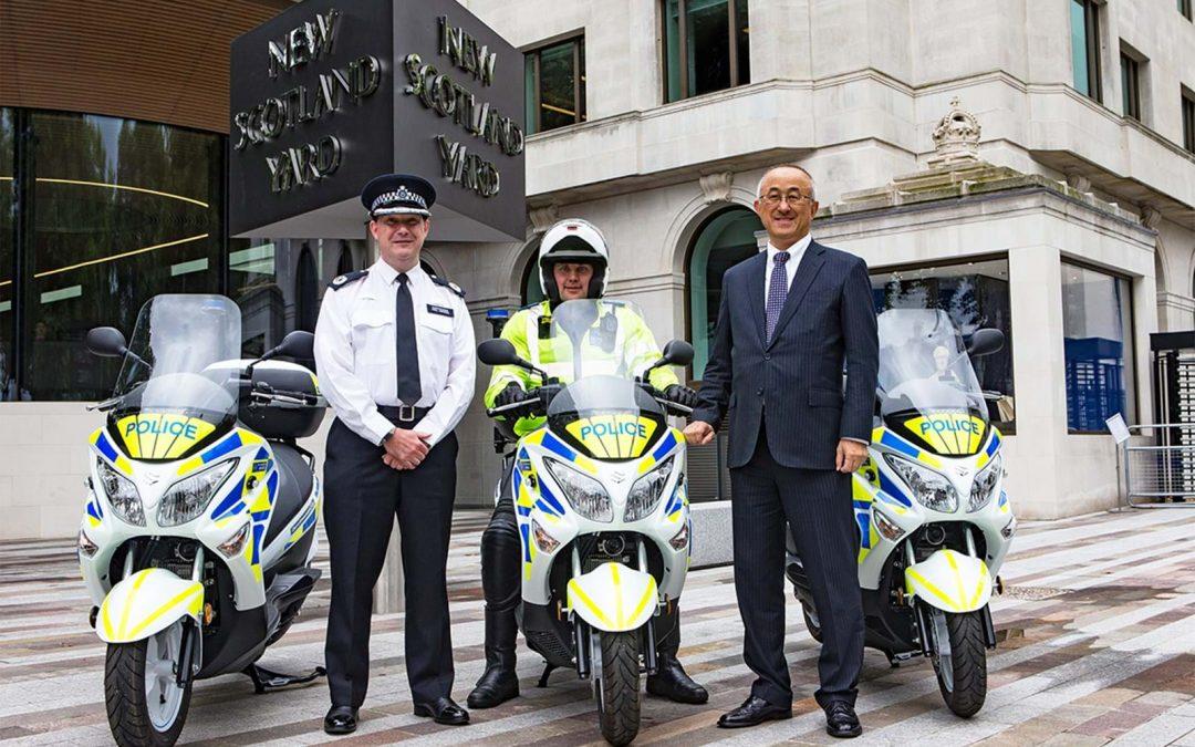 Met Police trials hydrogen fuel cell Burgman