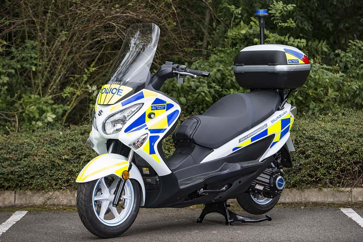 Metropolitan Police - zero emission Suzuki Burgman