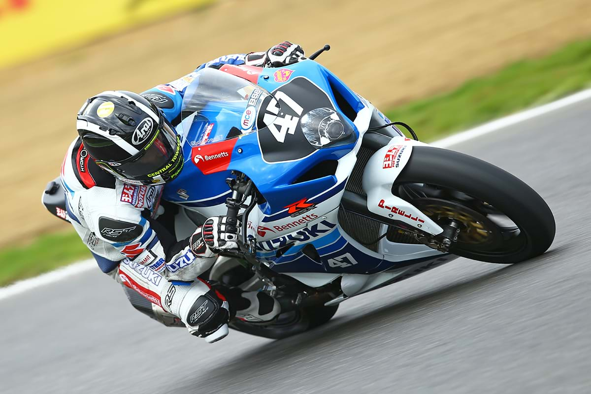 Richard Cooper on Suzuki GSX R1000 motorbike