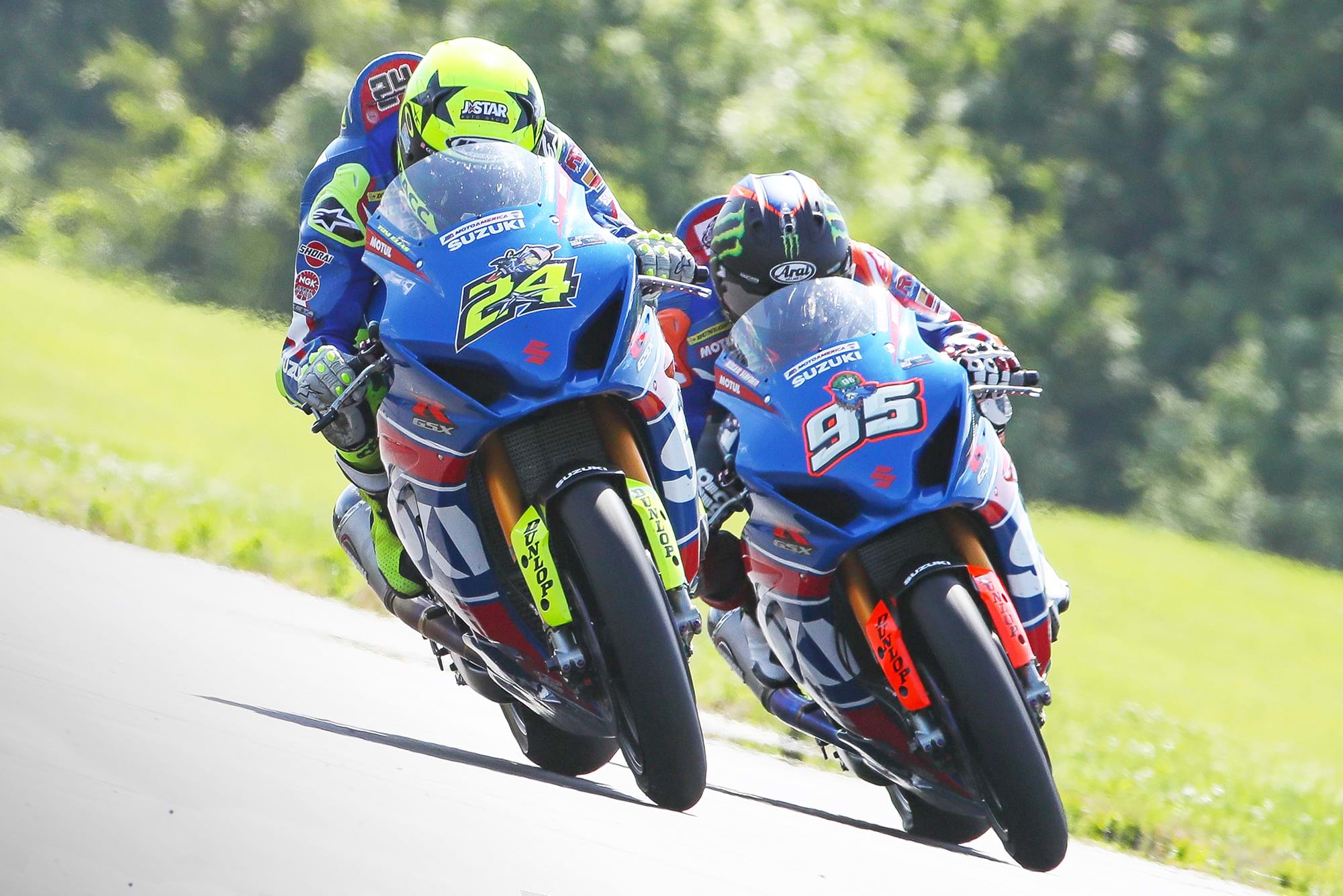 Hayden and Elias at MotoAmerica race - Suzuki GSX-R1000