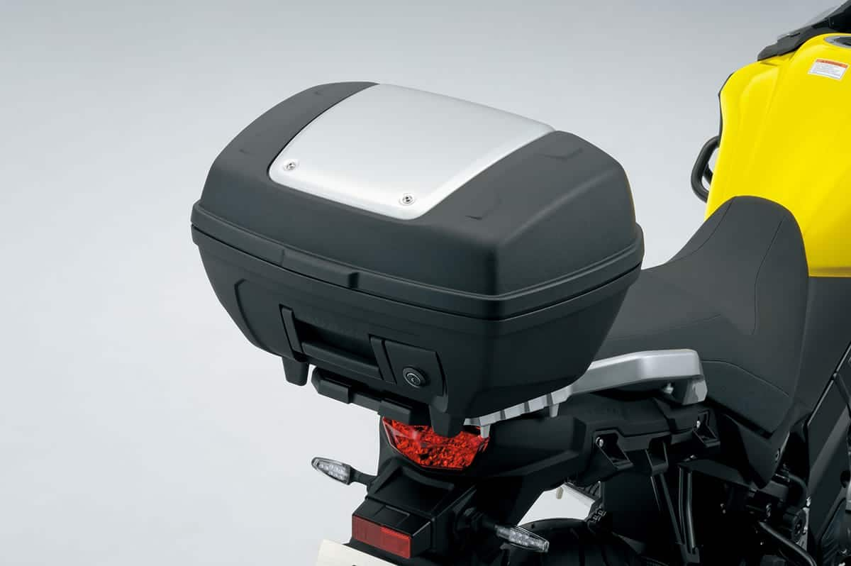 Suzuki V-Strom 650 top box and tank bag for luggage