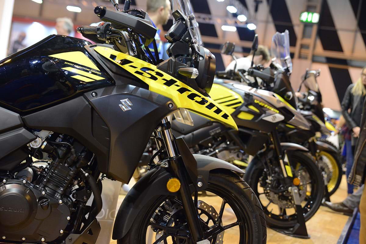 Suzuki V-Strom bike yellow