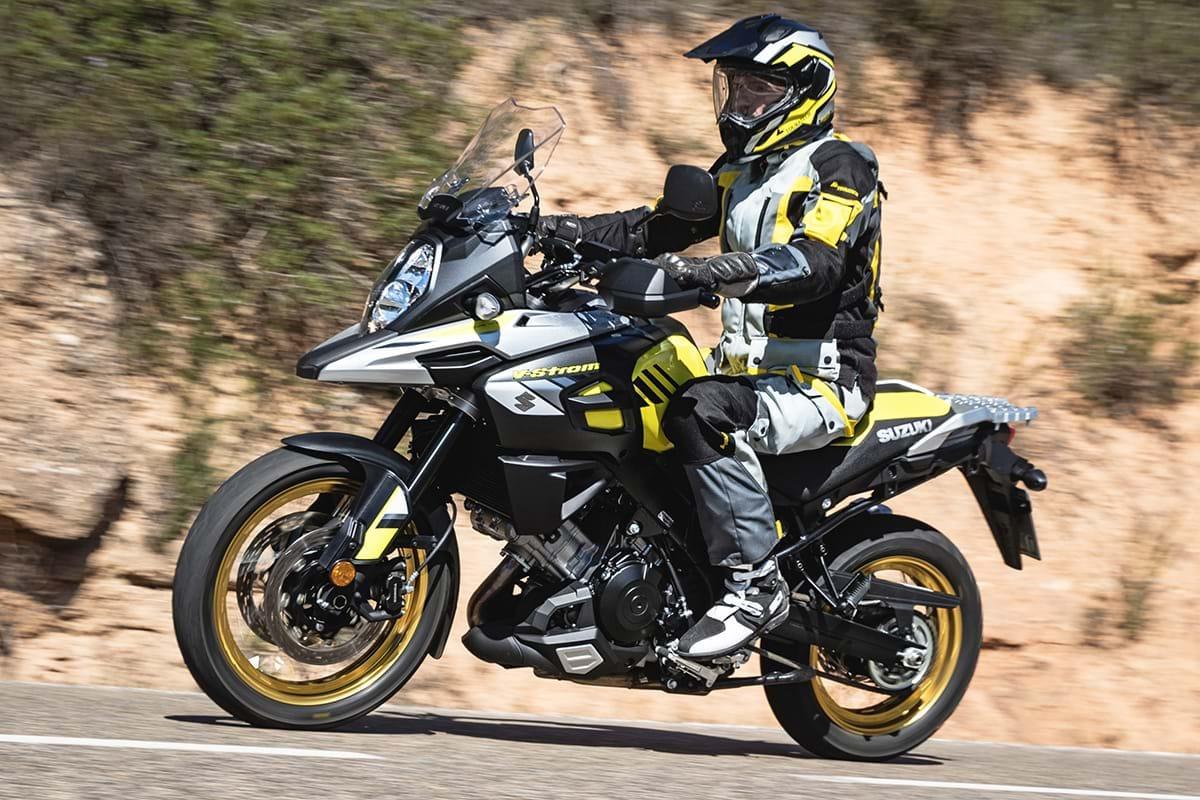 Suzuki V-Strom motorcycle on ride to Chelsea