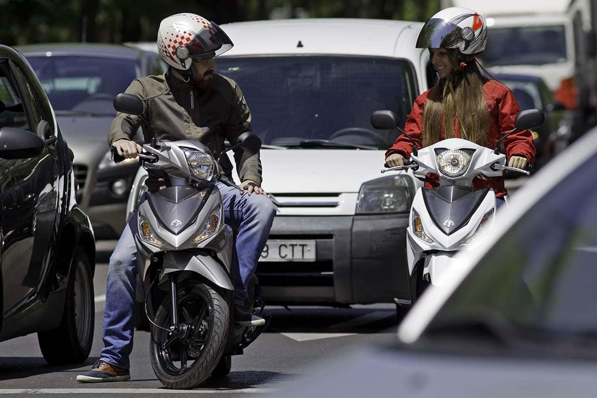 Suzuki Address on way to work