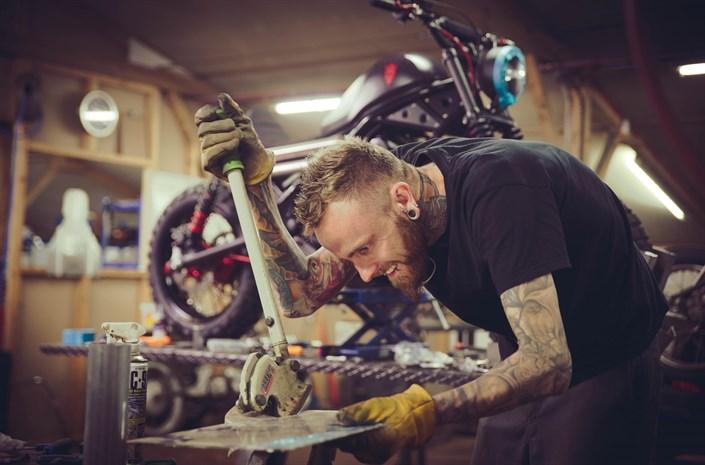 Works on Honda Rebel motorbike