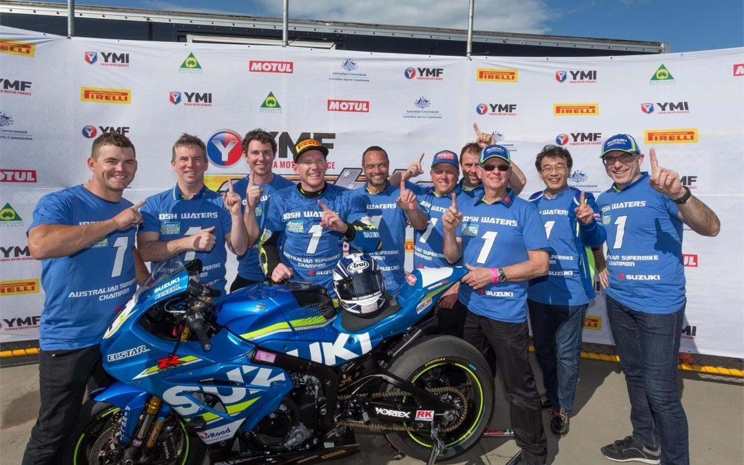 Josh Waters wins Australian Superbike title with new GSX-R1000