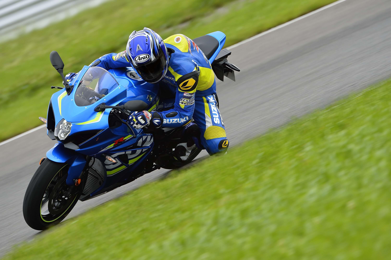 Suzuki GSX R1000 bike in action