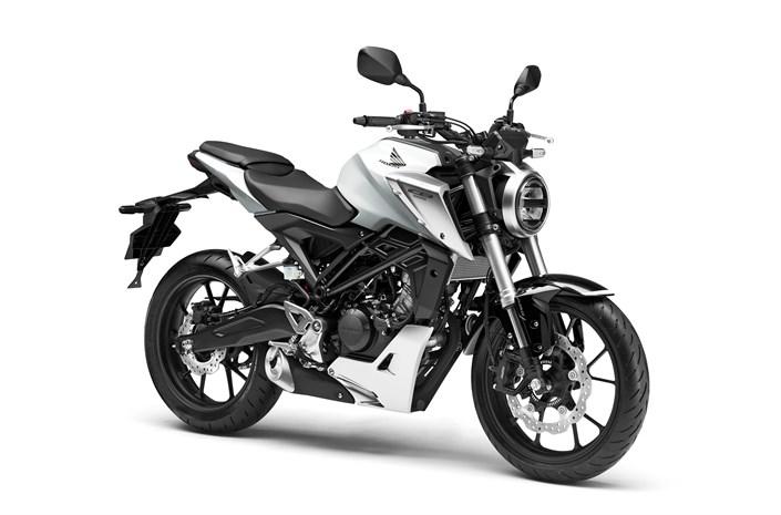Honda CB125R motorbike white