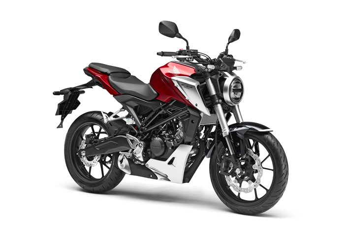 2018 Honda CB125R motorcycle red