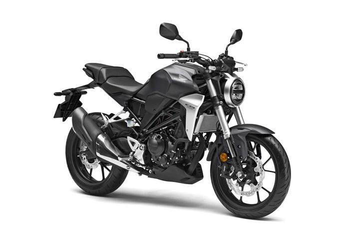 2018 Honda CB300R bike - front 3/4