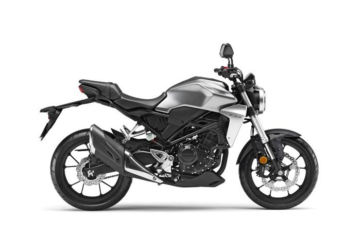 2018 Honda CB300R bike metallic grey