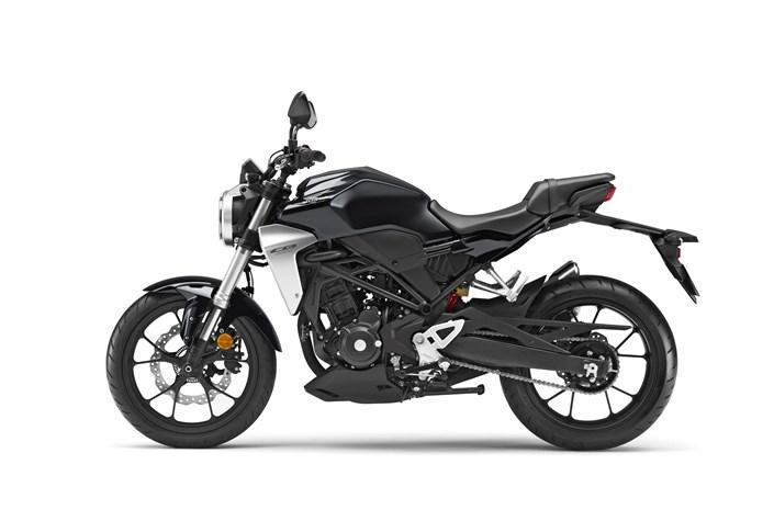 2018 Honda CB300R motorbike black colour