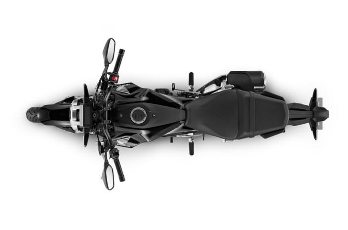 2018 Honda CB300R motorbike - view from above