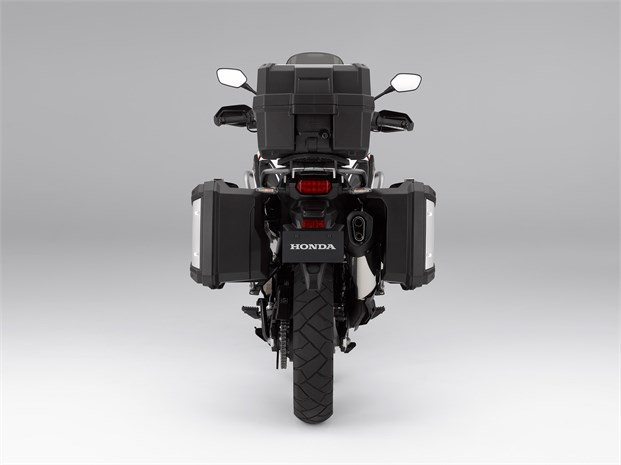 2018 CRF1000L bike - rear view with extra storage