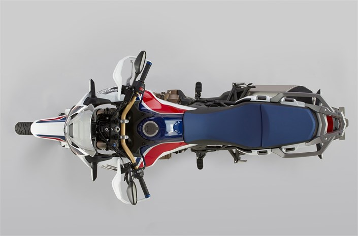 2018 CRF1000L Africa Twin motorcycle - up view