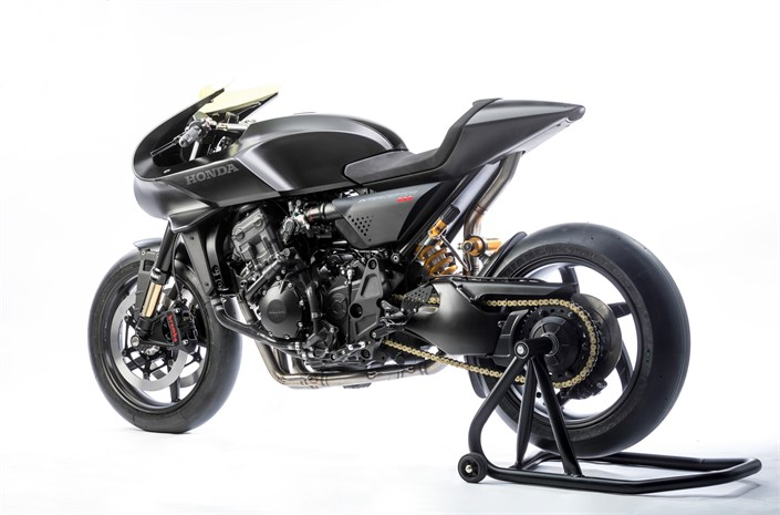 Honda CB4 'Interceptor' motorcycle - rear 3/4