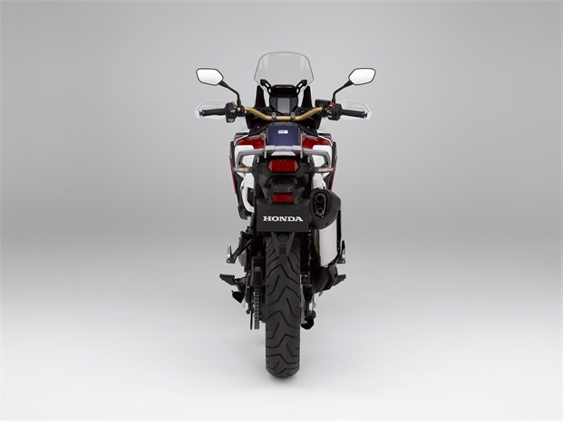 Honda Africa Twin bike - rear view