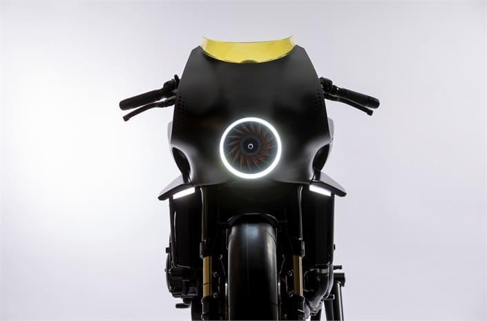 Honda Interceptor bike - front view