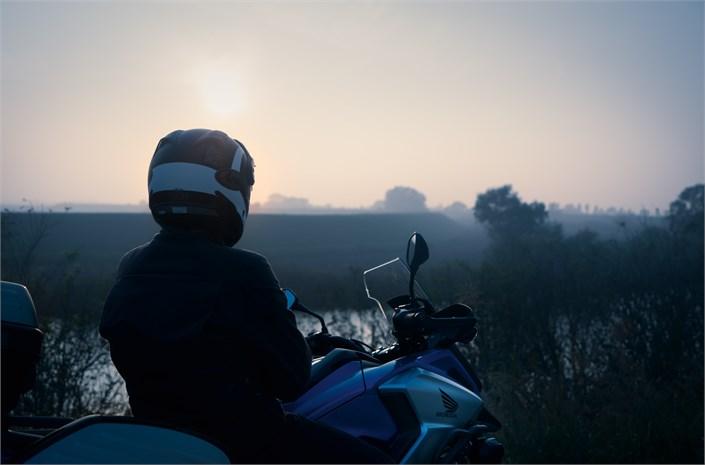 2018 Honda NC750X motorcycle - watching dawn