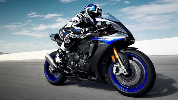 Yamaha YZF R1M motorbike ride