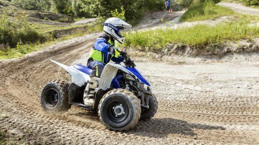 2017 YFZ50 Racing Blue - turning
