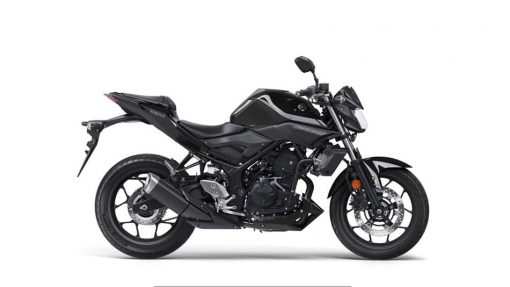 2018 Yamaha MT-03 Midnight Black bike - Studio