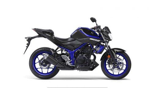 2018 Yamaha MT-03 bike Blue - Studio