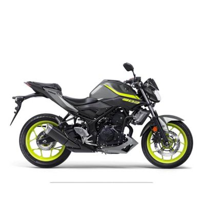2018 Yamaha MT-03 bike yellow Night Fluo - Studio