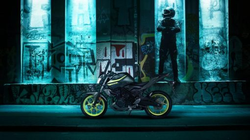 Yamaha MT-03 Hyper Naked motorcycle - Night Fluo